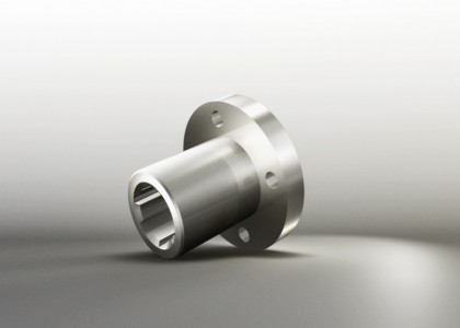 Splined hub with flange similar DIN ISO14-F